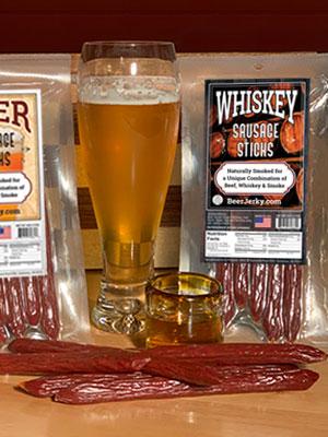 Whiskey Sausage Sticks