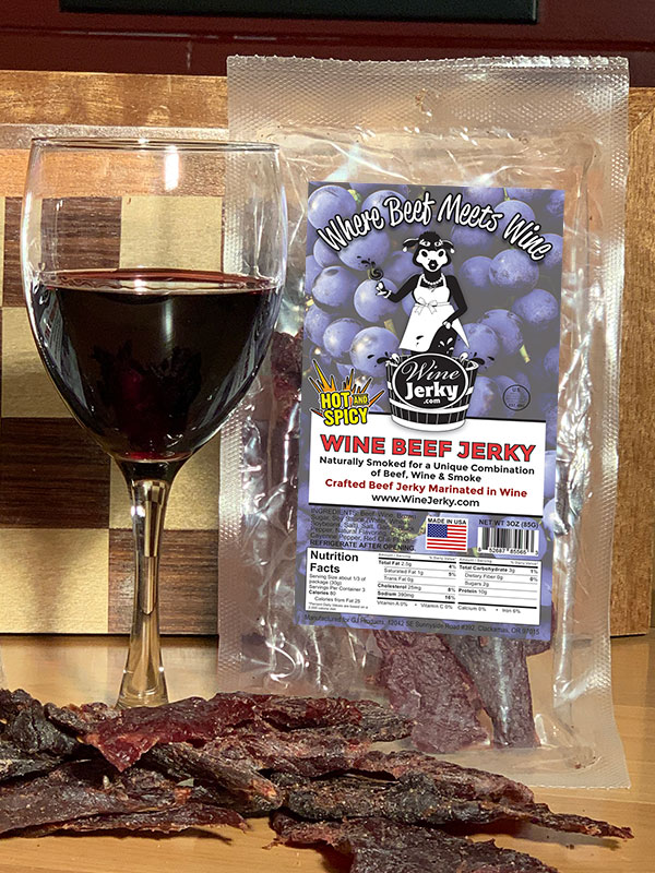 Wine Jerky Hot & Spicy
