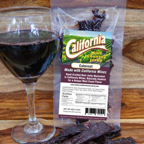 California Wine Country - Cabernet Beef Jerky BeerJerky.com Gourmet Beef Jerky Beer Jerky Wine Jerky Beef Jerky