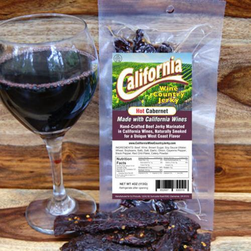 California Wine Country - Hot Cabernet Beef Jerky BeerJerky.com Gourmet Beef Jerky Beer Jerky Wine Jerky Beef Jerky