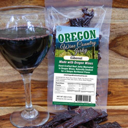 Oregon Wine Country - Cabernet Beef Jerky BeerJerky.com Gourmet Beef Jerky Beer Jerky Wine Jerky Beef Jerky